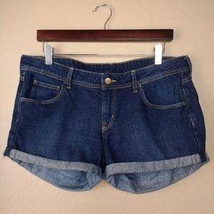 H&M Low Waist Rolled Cuff Denim Shorts